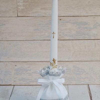 Krikšto žvakės papuošimas