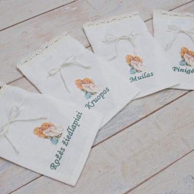 Krikštynų maišeliai su užrašais